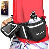Runtasty [Voted No.1 Hydration Belt] Winners' Running Fuel Belt - Includes Accessories: 2 BPA Free Water Bottles &...