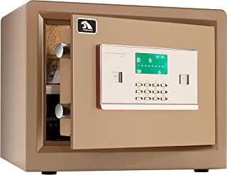Security Safe, Safe Box, Safety Boxes for Home, Double Safety Key Lock and Password, Protect Jewelry, Gun, Cash, Safe for Home Office 0.8 Cubic Feet by TIGERKING