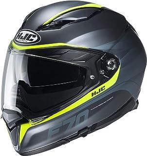 HJC Helmets Herren Nc Motorrad Helm, Schwarz/Gelb, M
