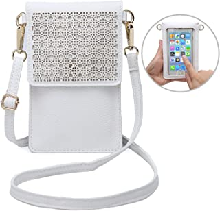 seOSTO Small Crossbody Bag, Cell Phone Purse Smartphone Wallet with 2 Shoulder Strap Handbag for