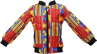 Aikaplus Unisex Kids African Jackets Toddler Kids Long Sleeve Autumn Dashiki African Windproof Coat Warm Outwear Jacket