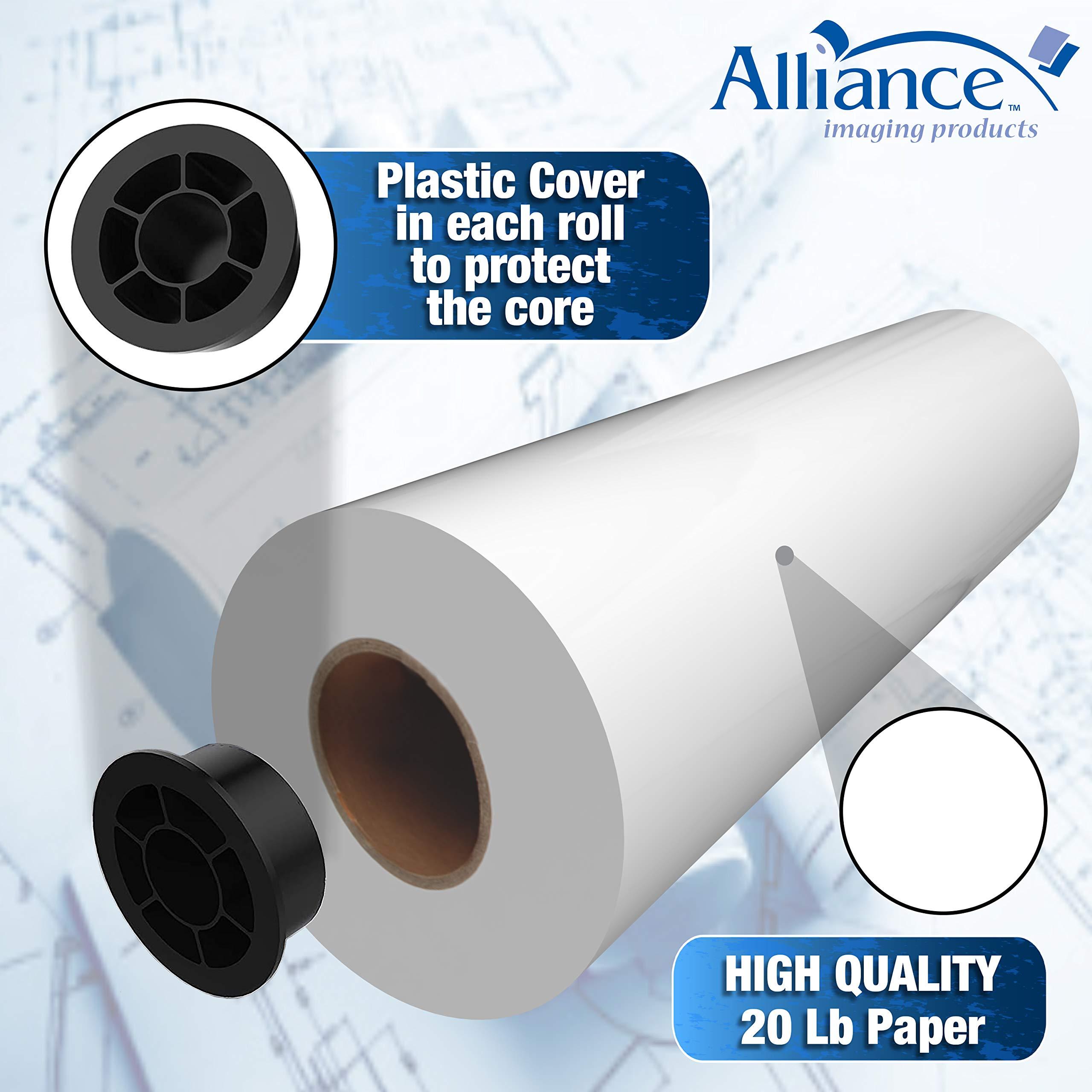 Alliance CAD rollos de papel de 30 pulgadas de tinta Jet Bond Rolls: Amazon.es: Oficina y papelería
