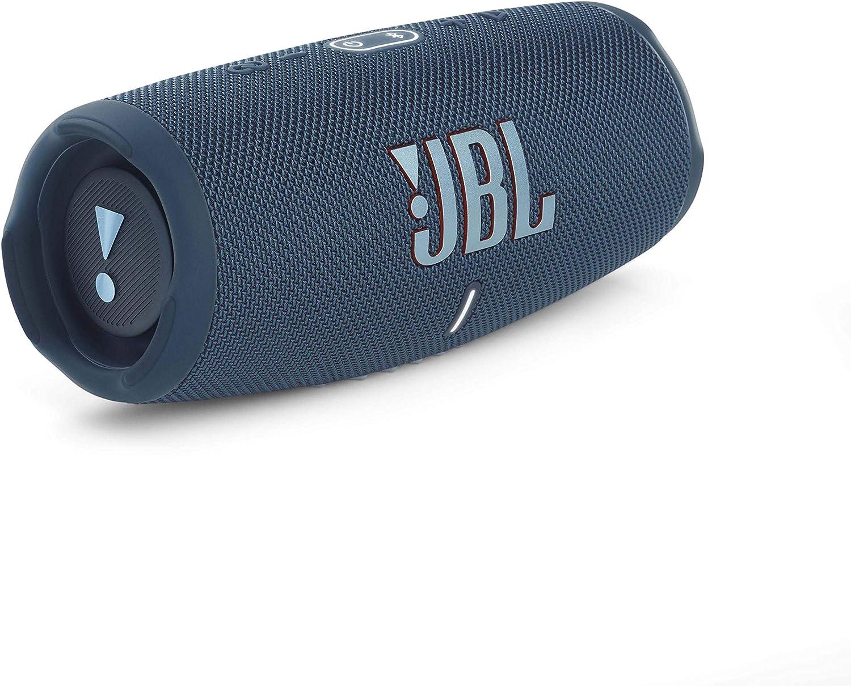 Eine Akku-Ladung f/ür bis zu 20 Stunden kabellosen Musikgenuss JBL Charge 5 Bluetooth-Lautsprecher in Petrol-Blau Wasserfeste portable Boombox mit integrierter Powerbank und Stereo Sound