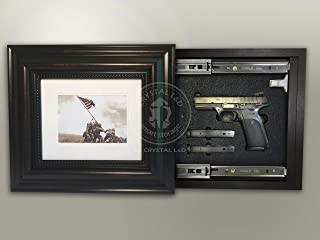 Hidden Storage Photo Frame for Gun and Valuables 15-1/2 x 13-1/2 w/Magnetic Lock
