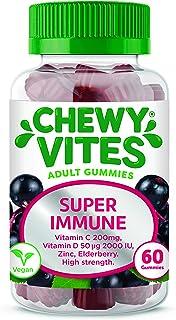 Chewy Vites Adults Super Immune | 60 Gummy Vitamins | Extra-Strength Vitamin D 200 IU | 200mg Vitamin C | 8 mg Zinc | Elde...