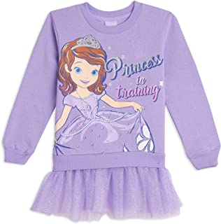 Disney Sofia The First Costume Pullover Sweater with Tulle Ruffles Purple