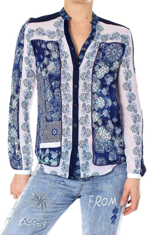 Desigual Women's 19SWCW19blueE bluee Viscose Shirt