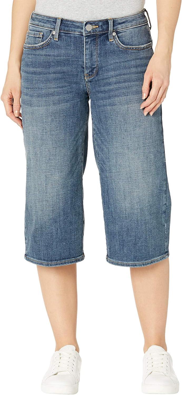 NYDJ Petite Wide Leg Pedal Pusher Jeans in Seline