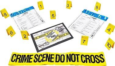 Kobe1 Crime Scene Kit:Crime Scene Do Not Cross Tape ,Photo Evidence Frames 20Feetx1 ,Evidence Bags , Cards:1 to 10 7cm x 4cm Folded x2
