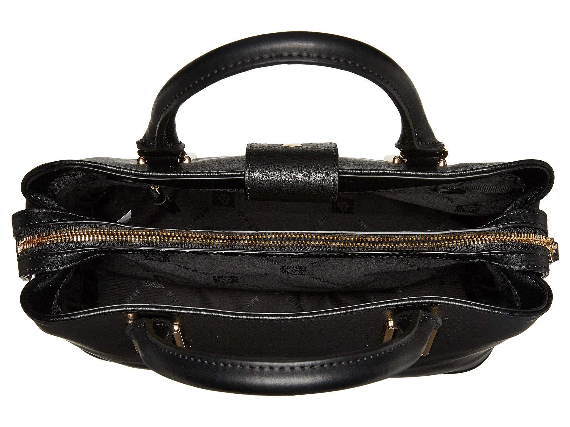 Black Klein Frame Triple Compartment Satchel Anne dFX8wqa