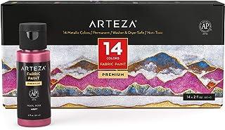 Arteza Fabric Paint 14 x 60 ml multicolored ARTZ-9282