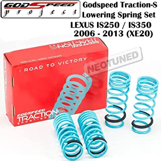 Godspeed(LS-TS-LS-0004) Traction-S Lowering Spring Set For LEXUS IS250 IS350 2006-2013 Sedan Only (Will not fit Convertible) (XE20) gsp set kit