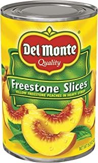 Del Monte Canned California Freestone Sliced Peaches, 15.25 Ounce, Pack of 12