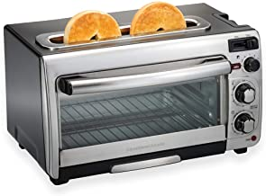 Hamilton Beach 2-in-1 Countertop Oven and Long Slot Toaster, Stainless Steel, 60 Minute..