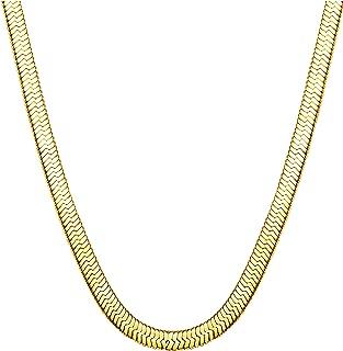 Stainless Steel Necklace for Men Women Nickel-Free Herringbone Chain 16