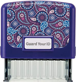 """Guard Your Identity Theft Prevention Confidential Security Stamp 2.25"""" x 0.75"""