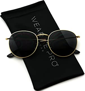 Reflective Lens Round Trendy Sunglasses