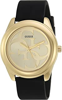 GUESS Black and Gold-Tone Logo Watch