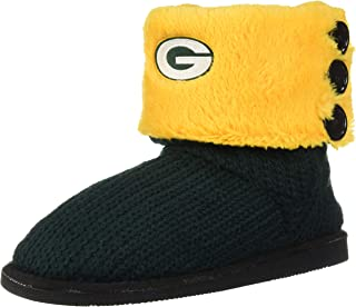 FOCO NFL Unisex Knit Team Color High End Button Boot Slipper