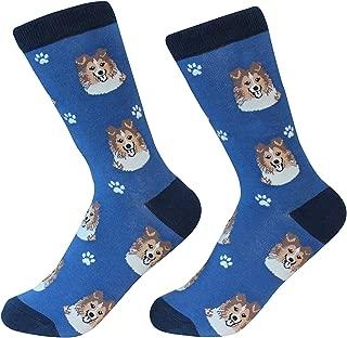 Shetland Sheepdog Sheltie Dog Breed Socks Unisex Sock Daddy by E&S Pets