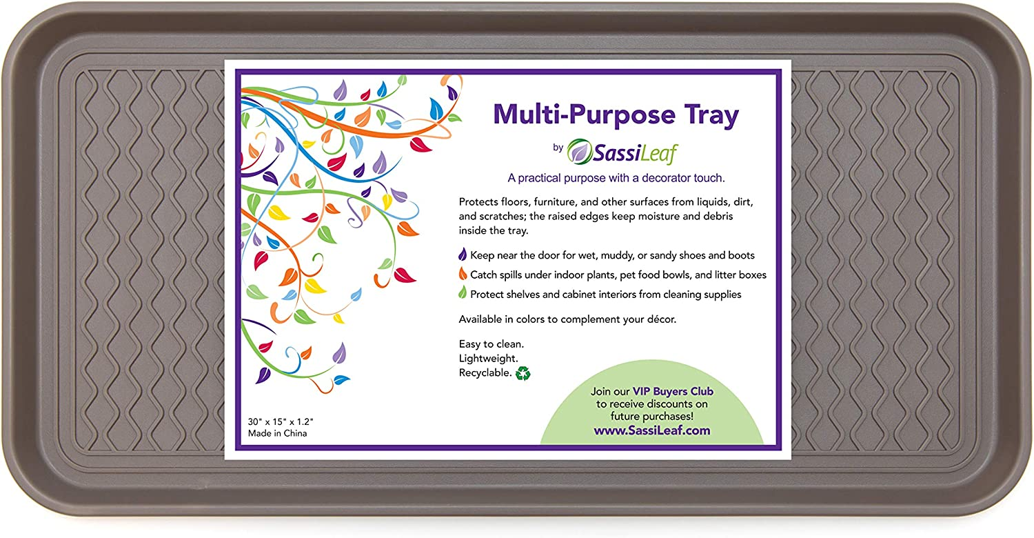 """SassiLeaf Multi-Purpose Tray in Decorator Quality inspection L 30"""" x Colors - shop"""