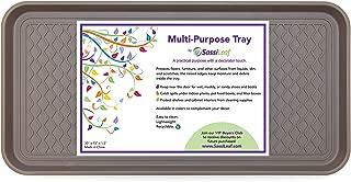 """SassiLeaf Multi-Purpose Tray in Decorator Colors - 30"""" L x 15"""" W x 1.20"""" H (Slate Gray)"""
