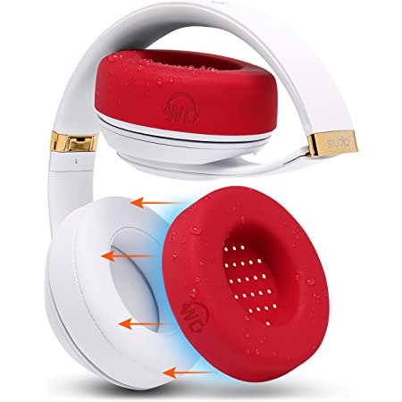 WC SweatZ Protective Headphone Ear Covers Made by Wicked Cushions | Fits Beats Studio 3 & 2 (Does Not Fit Beats Solo) / Bose QC35 & 35II / Bose 700 & More | Sweatproof & Easily Washable (Lg, Red)
