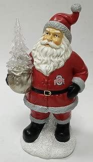 Oxbay Ohio State Buckeyes Santa with LED Christmas Tree