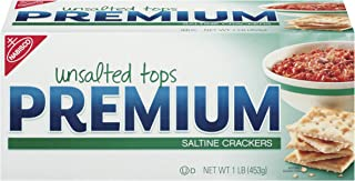 Premium Saltine Crackers, Unsalted Tops, 16 Ounce (Pack of 12)