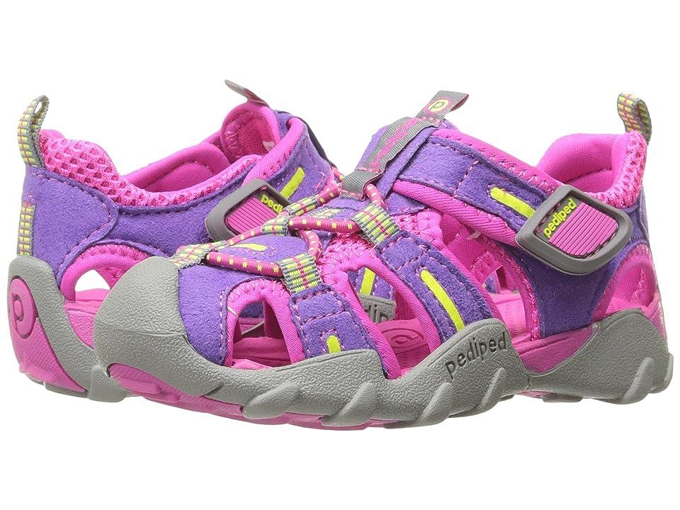 pediped Canyon Flex (Toddler/Little Kid/Big Kid) (Grape) Girls Shoes