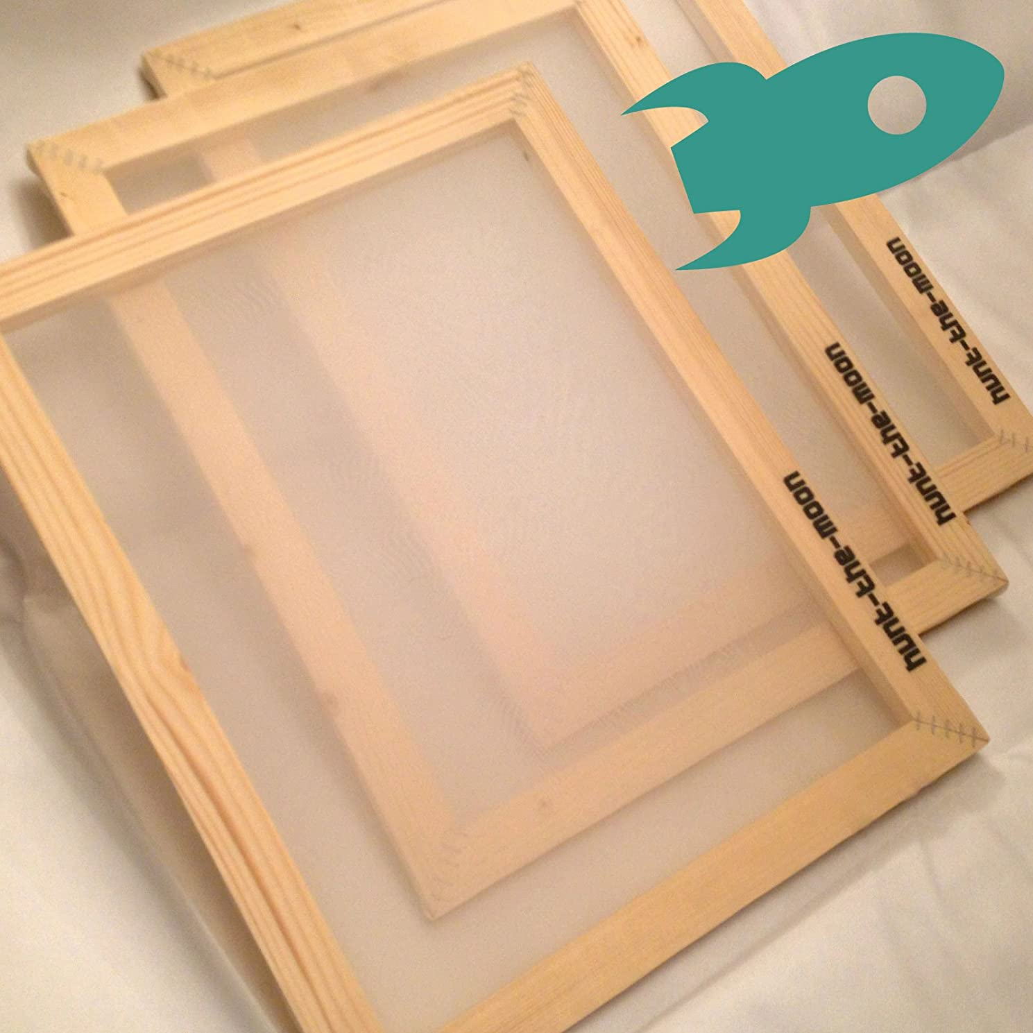 Hunt The Moon Wooden Screen Printing Frame, Medium A4 32t