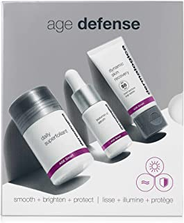 Dermalogica Age Defense Kit - Set Contains: Face Scrub, Vitamin C Serum, and Face Sunscreen - Smoothes, Firms, and Guards ...