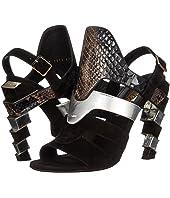 Salvatore Ferragamo - Suede and Calfskin Sandal With Heel