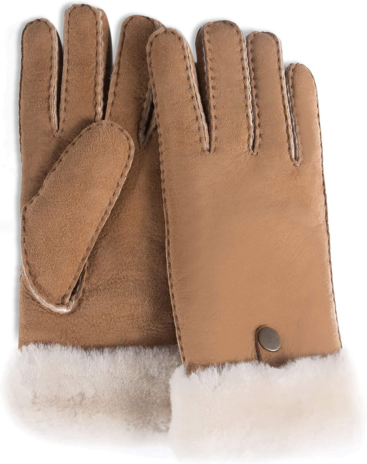 YISEVEN Men's Merino Rugged Lambskin Gloves Max 58% OFF Shearling Leather Bu Ranking TOP5