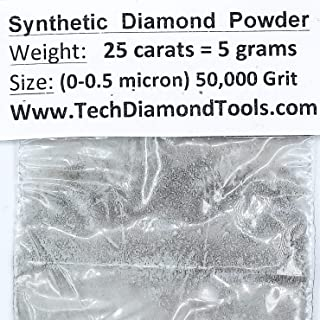 Diamond Powder 50,000 Grit, 0-0.5microns - 25 Cts. = 5 Grams