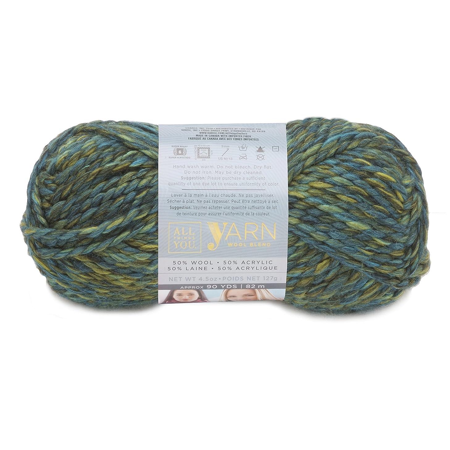 Darice All Things You, Wool and Acylic Blend Yarn, Earth Tones