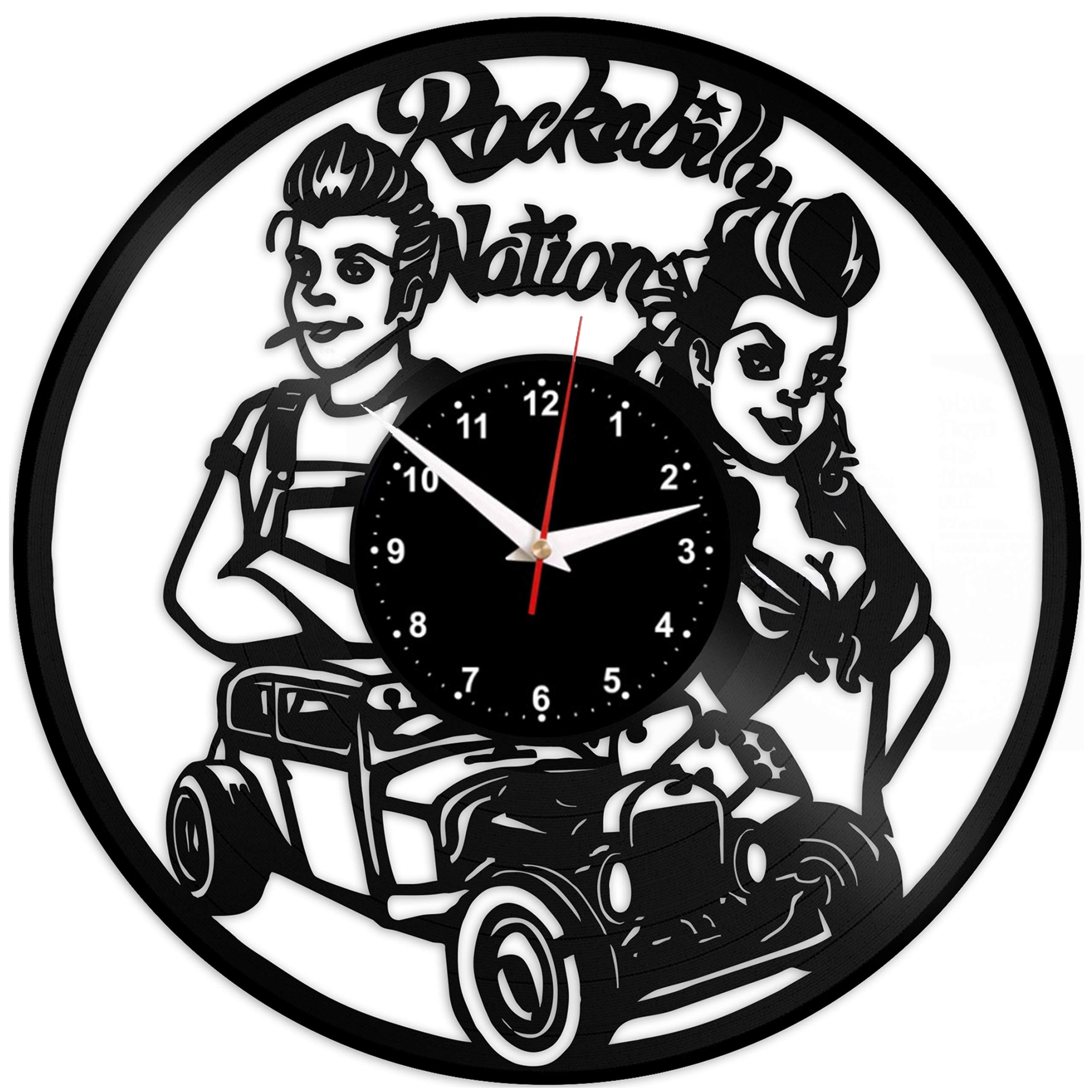 EVEVO Barber Shop - Reloj de Pared, diseño de barbería: Amazon.es ...