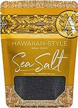 SaltWorks Hiwa Kai, Black Hawaiian-style Sea Salt, Small Grain, Artisan Zip-Top Pouch, 4 Ounce