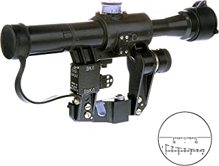 BelOMO POSP 4x24 T. Optical Rifle Scope. Russian Side Mount. 400m Rangefinder. 1 MOA. Combloc