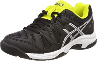 ASICS Kids Gel-Game 5 GS C502Y-9093 Black/Silver/Yellow Tennis