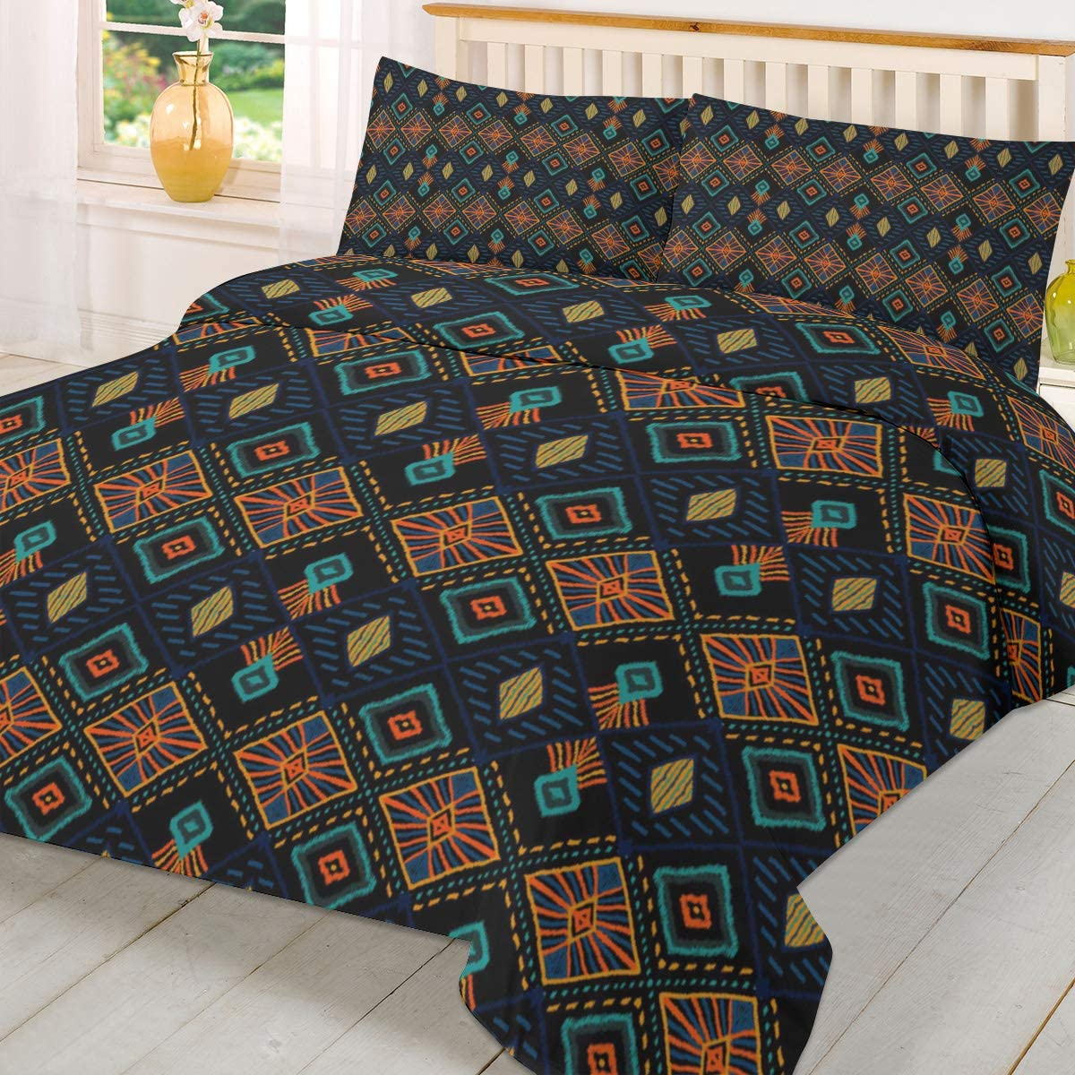 Olivefox Queen Duvet trust Cover Set Comfort Ranking TOP14 Style Fill Pattern Ethnic