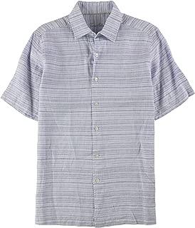 Tasso Elba Men's Matisse Stripe Linen Shirt