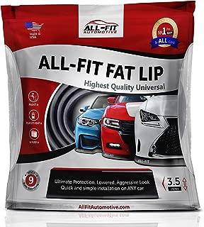 All-Fit Automotive Universal Lip Kit Complete Bumper Chin Spoiler 3.5 Inch, FLB30 All-Fit Automotive Fat Lip 30 Ft 3.5 Inch Complete Lip Kit, Black