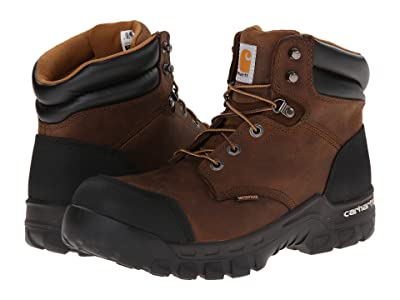 Carhartt 6 Rugged Flex Waterproof Comp Toe Work Boot (Brown) Men