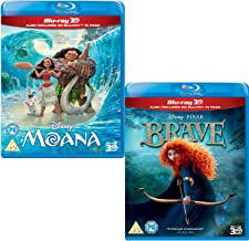 Moana (3D + 2D) - Brave (3D + 2D) - Walt Disney 2 Movie Bundling Blu-ray