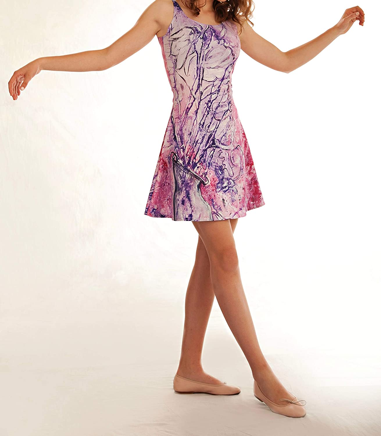 Let the Music Paint  (TM) Sherry Kennedy Madame Butterfly Flared Dress