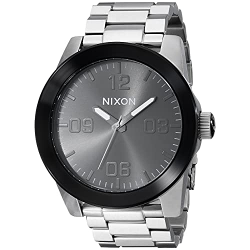 Nixon Corporal SS Rugged Mens Watch (48mm. Stainless Steel Band)