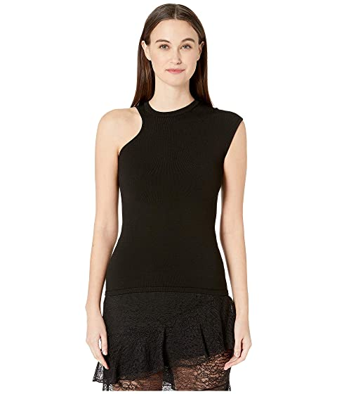 Cushnie Single Cap Sleeved Crew Neck Top
