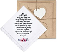 W/&F GIFT Wedding Gift Embroid or Silk Print Mom Dad New Parents Other Handkerchiefs