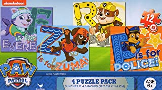 Paw Patrol - 4 Puzzle Pack - 12 Piece Jigsaw Puzzle (Set of 4 Different Puzzles) V2